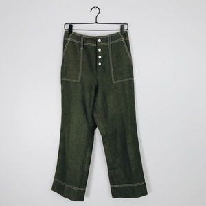 *J.Crew Point Sur Surplus Linen Straight Leg Pants